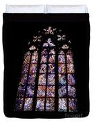 Stain Glass Window Duvet Cover by Madeline Ellis