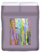Stains Of Paint Duvet Cover by Carlos Caetano