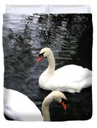 Stanley Park Swans Duvet Cover by Will Borden