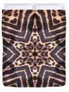 Star Of Cheetah Duvet Cover by Maria Watt