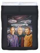 Star Trek Tribute Enterprise Captains Duvet Cover by Bryan Bustard