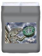 Starbucks Coffee Duvet Cover by Spencer McDonald