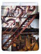 Stare Stair Duvet Cover by Lisa Knechtel