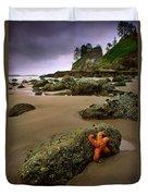 Starfish On The Rocks Duvet Cover by Inge Johnsson