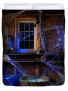 Steaming Cauldron In A Witch Cabin Duvet Cover by Oleksiy Maksymenko