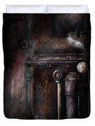 Steampunk - Handling Pressure  Duvet Cover by Mike Savad