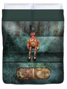 Steampunk - My Favorite Toy Duvet Cover by Mike Savad