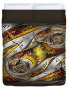 Steampunk - Spiral - Space Time Continuum Duvet Cover by Mike Savad