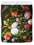 Still Life of Flowers Duvet Cover by Jan Davidsz de Heem
