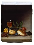 Still Life With A Wine Glass Duvet Cover by Raphaelle Peale