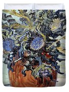 Still Life with Thistles Duvet Cover by Vincent van Gogh