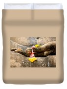 Stone Hand Of Buddha Duvet Cover by Adrian Evans