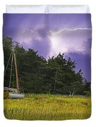 Storm Over Knott's Island Duvet Cover by Charles Harden