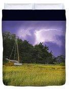 Storm Over Knott's Island Duvet Cover by Charles Harden