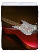Stratocaster On A Golden Floor Duvet Cover by James Barnes