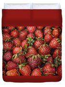 Strawberries -2 Contemporary Oil Painting Duvet Cover by Natalja Picugina