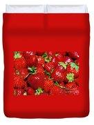 Strawberries Duvet Cover by Carlos Caetano