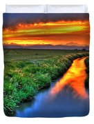 Stream Of Light Duvet Cover by Scott Mahon