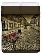 Street Seat Duvet Cover by Evelina Kremsdorf