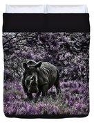 Styled Environment-the Modern Trendy Rhino Duvet Cover by Douglas Barnard