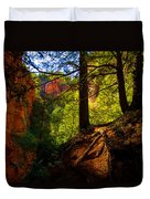 Subway Forest Duvet Cover by Chad Dutson