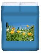 Summer Flowers Duvet Cover by Sophie De Roumanie
