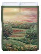Summer In Tuscany Duvet Cover by Nadine Rippelmeyer