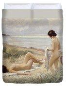 Summer On The Beach Duvet Cover by Paul Fischer