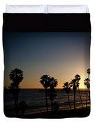 Sun Going Down In California Duvet Cover by Ralf Kaiser
