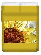 Sunburst Sunflower Duvet Cover by Jerry McElroy