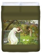 Sunday Afternoon - Ladies In A Garden Duvet Cover by English School