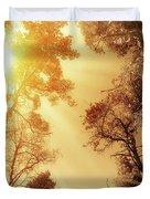 Sunlit Tree Tops Duvet Cover by Wim Lanclus