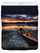 Sunrise Boat Duvet Cover by Matt Hanson