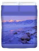 Sunrise Ice Reflection Duvet Cover by Chad Dutson