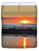 Sunset Beach Duvet Cover by Douglas Barnard