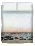 Sunset Duvet Cover by Gustave Courbet