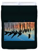 Sunset In Colonial Beach Virginia Duvet Cover by Clayton Bruster
