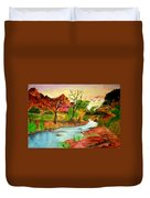 Sunset In Zion Duvet Cover by Joanna Aud
