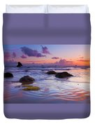 Sunset Ripples Duvet Cover by Mike  Dawson