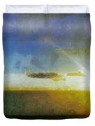 Sunset Under the Clouds Duvet Cover by Jeff Kolker