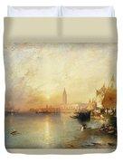 Sunset Venice Duvet Cover by Thomas Moran