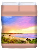 Sunset Walk Duvet Cover by Dominic Piperata