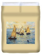 Sunwashed Sailors Duvet Cover by Marguerite Chadwick-Juner