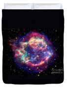 Supernova Remnant Cassiopeia A Duvet Cover by Stocktrek Images