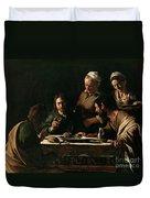 Supper At Emmaus Duvet Cover by Michelangelo Merisi da Caravaggio