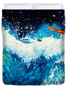 Surfer Girl Duvet Cover by Hanne Lore Koehler