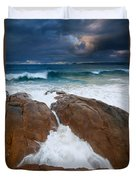 Surfs Up Duvet Cover by Mike  Dawson