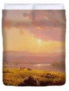 Susquehanna River Duvet Cover by Jasper Francis Cropsey