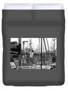Swabbing The Deck Duvet Cover by Betty LaRue
