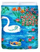 Swan And Duck Duvet Cover by Sushila Burgess